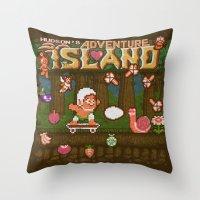 Adventure Island Throw Pillow