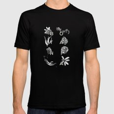 Botanica Letters | Pale Green Mens Fitted Tee Black SMALL
