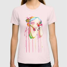 Byte Womens Fitted Tee Light Pink SMALL