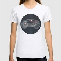 Joystick #06 Womens Fitted Tee Ash Grey SMALL