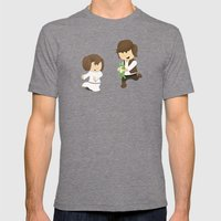 SW Kids - Han Chasing Leia Mens Fitted Tee Tri-Grey SMALL