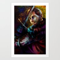 Knight Captain Turned Ad… Art Print