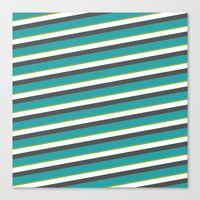 Diagonal Striped Shirt Canvas Print