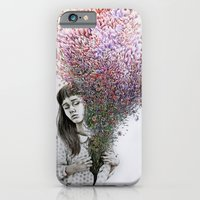iPhone & iPod Case featuring I tried to draw my soul but all I could think of was flowers by KatePowellArt