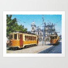 Old tramways V Art Print