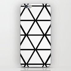 WHITE & BLACK TRIANGLES  iPhone & iPod Skin