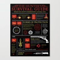 The Hunters Survival Gui… Canvas Print