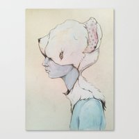 Portrait E Canvas Print