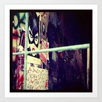:: STREET ART //PART II - HAMBURG Art Print