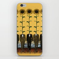 Sunflowers In Suits Prin… iPhone & iPod Skin