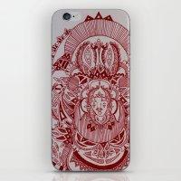 Maroon Mask iPhone & iPod Skin
