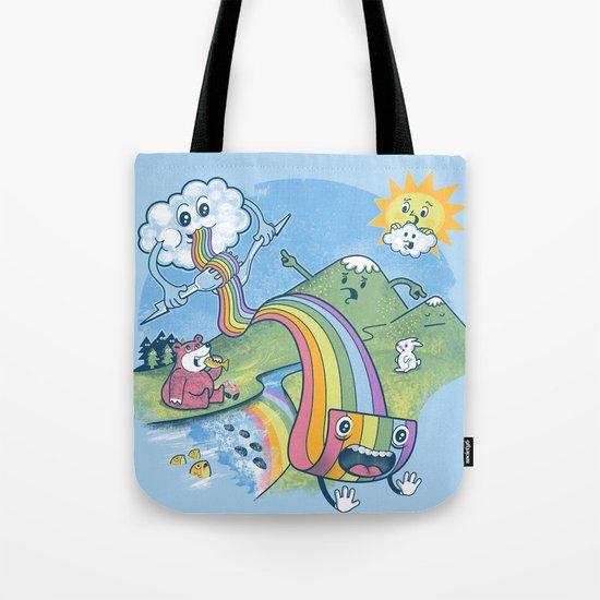 Rainbow Pasta Tote Bag