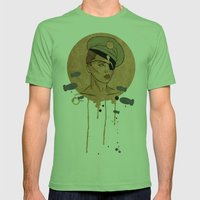 The Steam Captain  Mens Fitted Tee Grass SMALL