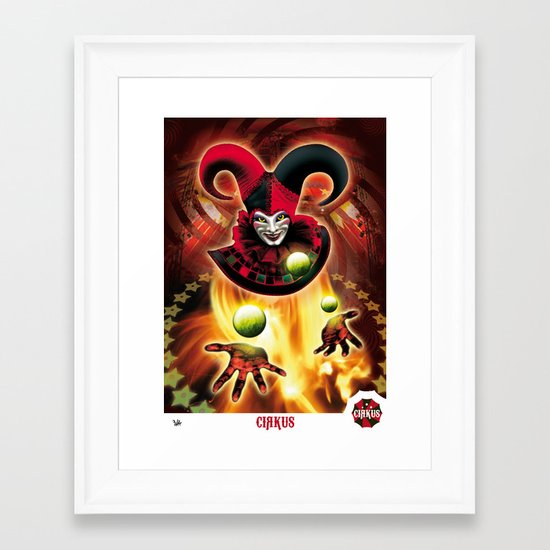 Poster Cirkus Framed Art Print
