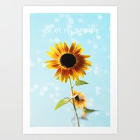 You Are My Sunshine Art Print
