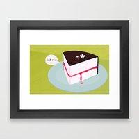 Eat me. Framed Art Print