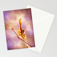 GOLDEN AUTUMN LEAF Stationery Cards