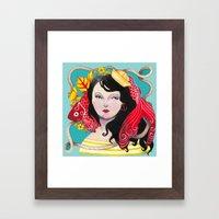 Lady Nautical Framed Art Print