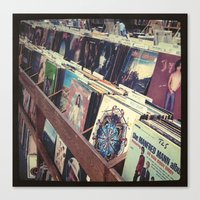 The Record Store (An Ins… Canvas Print