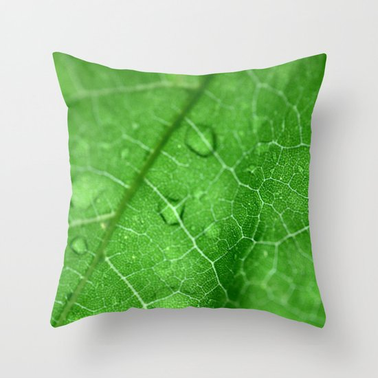 Its In The Details (Green) Throw Pillow