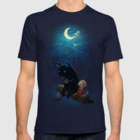 Camping 2 Mens Fitted Tee Navy SMALL