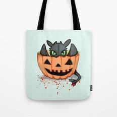 Halloween Dragon Tote Bag