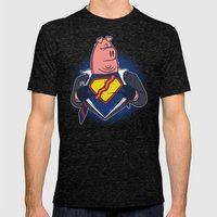 Super Bacon Mens Fitted Tee Tri-Black SMALL