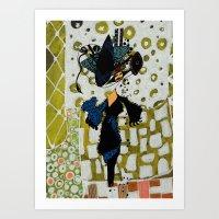 Shopping Queen Art Print