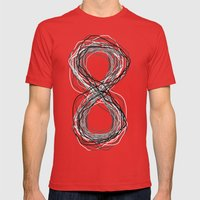 Forever (Invert) Mens Fitted Tee Red SMALL