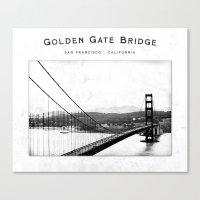 Golden Gate Bridge - San… Canvas Print