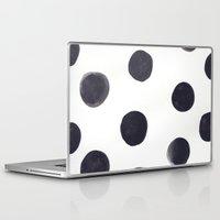 Laptop & iPad Skin featuring Watercolour Dots by Georgiana Paraschiv