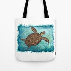 Hawksbill Sea Turtle ~ Watercolor Tote Bag