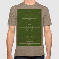 Football field fun design soccer field Mens Fitted Tee Tri-Coffee SMALL