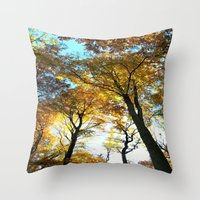 Glowing Treetop Throw Pillow