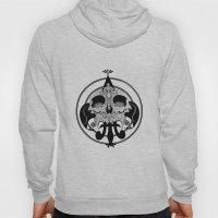 skull and pen Hoody