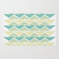 ocean triangles Rug