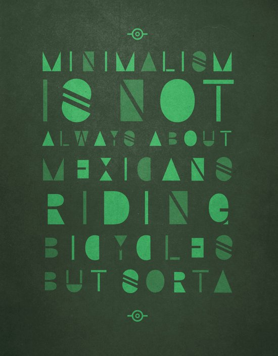 Mexicans &  Minimalism Canvas Print