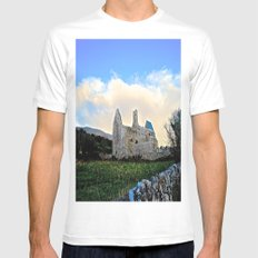 Corcomeroe Abbey Mens Fitted Tee White SMALL