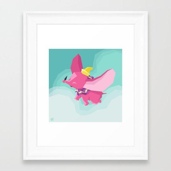 The Flying Elephant Framed Art Print
