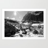 Canada Mountains Art Print