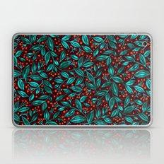 ORANGE BERRIES TURQUOISE LEAVES Laptop & iPad Skin