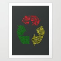 Peace, Love And Happines… Art Print
