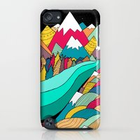iPod Touch Cases featuring River in the mountains by Steve Wade