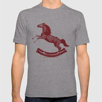 Rocking Horse Mens Fitted Tee Athletic Grey SMALL