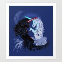 Retold with Unicorns Art Print