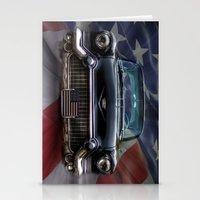 Black American Caddy  Stationery Cards