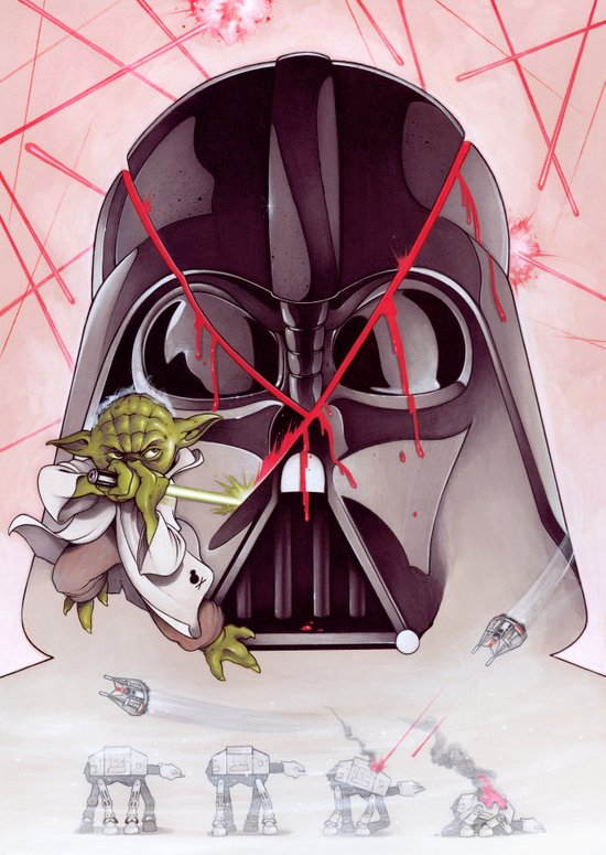 Yoda Slice Art Print