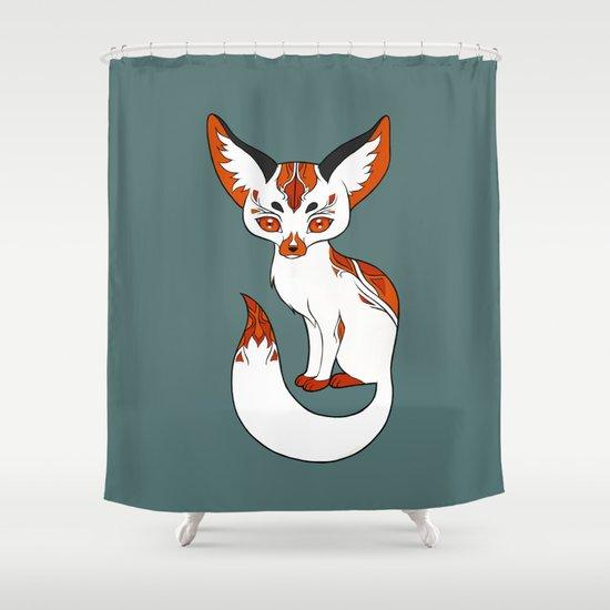 Mysterious Fox Shower Curtain