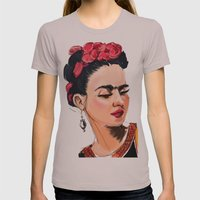 Frida Womens Fitted Tee Cinder SMALL