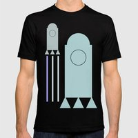 rakete 1 Mens Fitted Tee Black SMALL